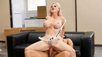 Busty blonde sex-doll Casca Akashova is used by perverted guy Xander